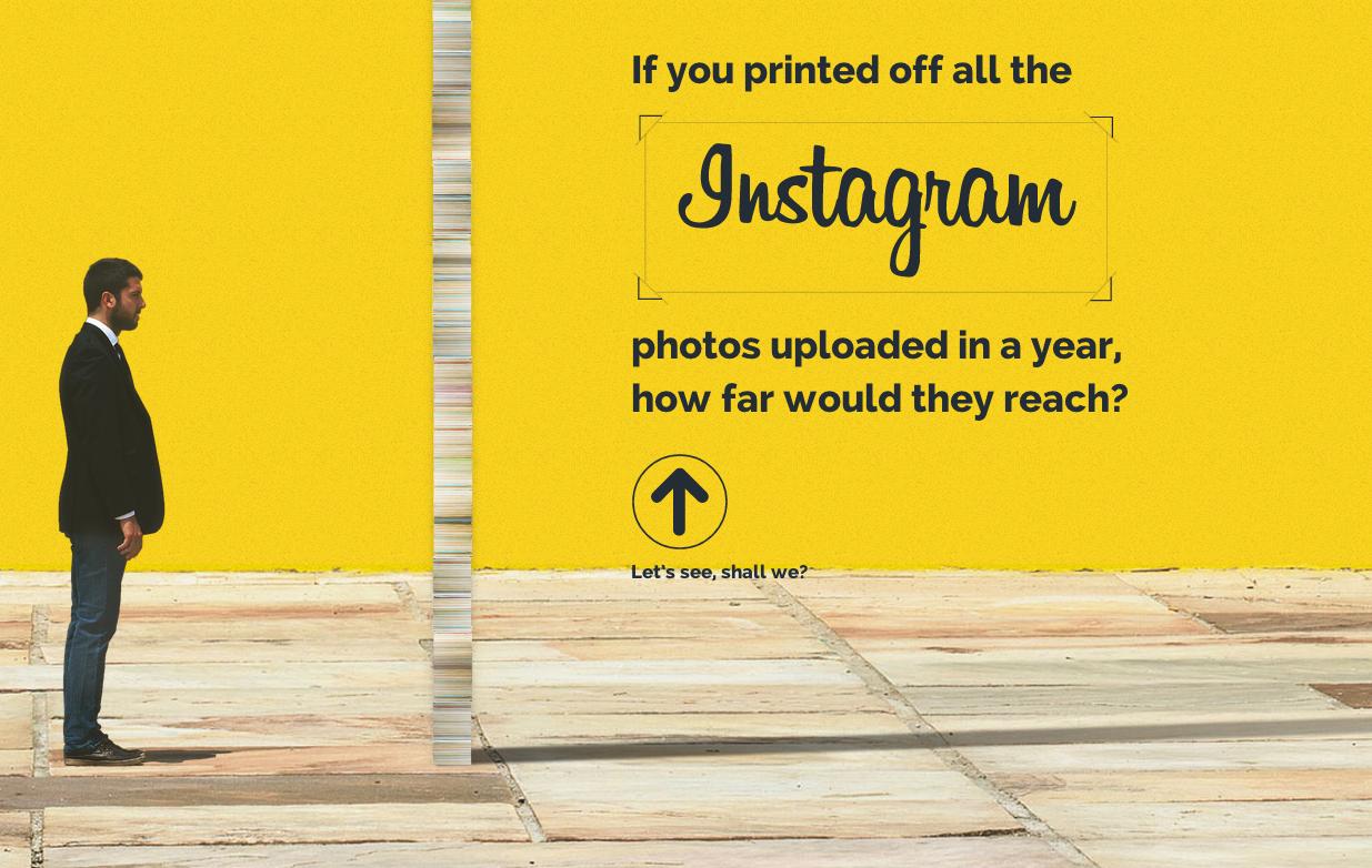 Si imprimiésemos todas las fotografías de Instagram, ¿hasta dónde llegaríamos?