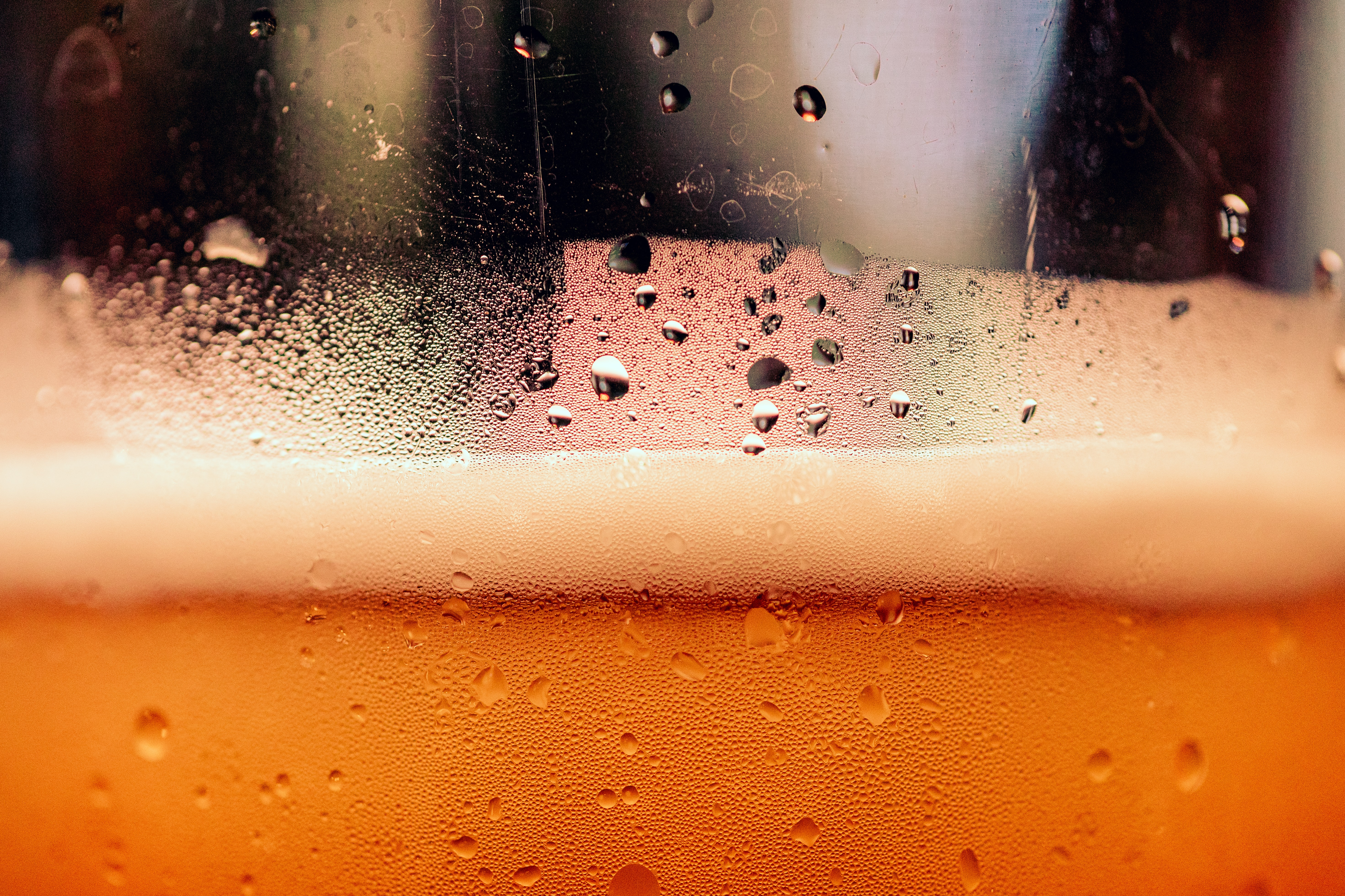 La espuma de la cerveza
